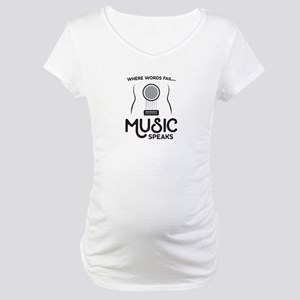 Music Speaks Maternity T-Shirt